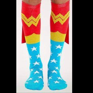 Wonder Woman Knee Socks w Capes